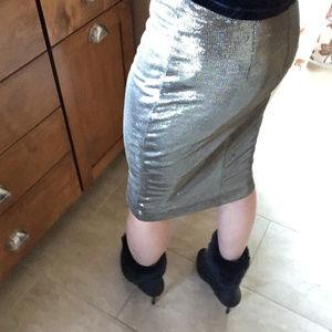Forever 21 metallic pencil skirt